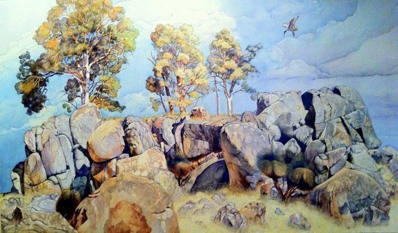 Landscape Rock Hillside WA South