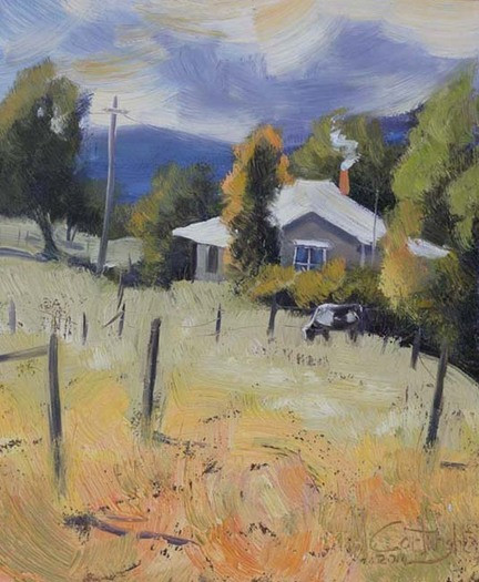 With a hint of impressionism alternating brushstrokes were used to create texture, interest and depth.