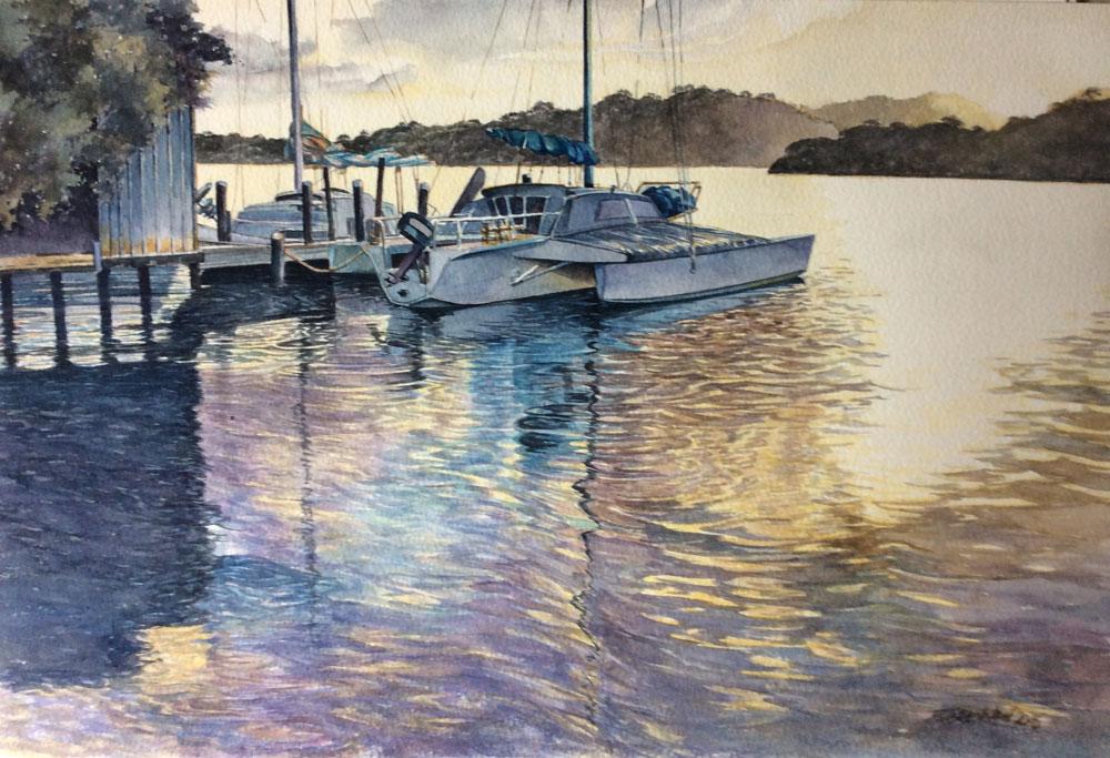 Boats Moored at Walpole Jetty WA