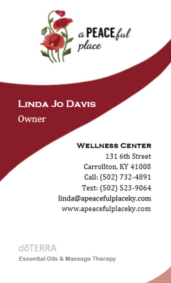 A PEACEful Place Business Card