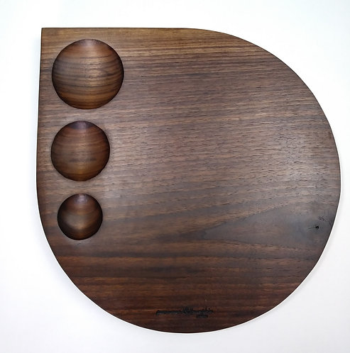 Large Raindrop Charcuterie Cheese Board Black Walnut