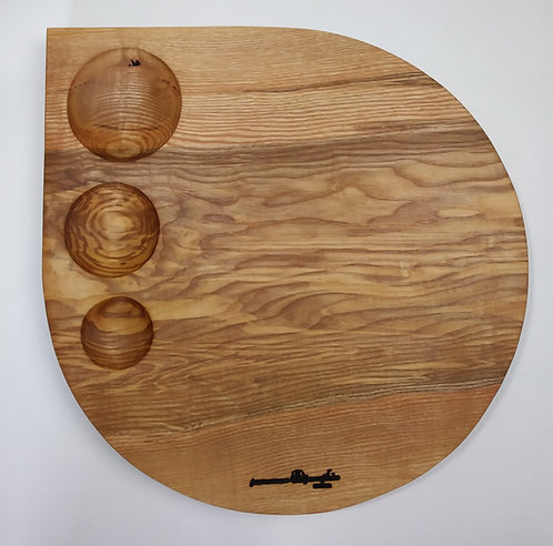 Large Raindrop Charcuterie Cheese Board Ripple Ash