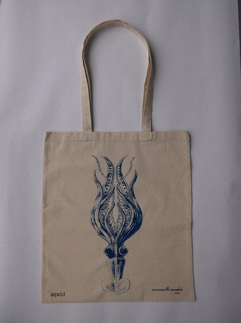 Squid Shopping Bag Carrier 100% Cotton UK