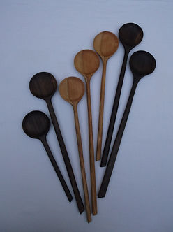 Black Walnut & Cherry Wooden Spoons UK Hand Made