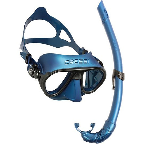 Cressi Calibro Mask & Corsica Snorkel Package (Limited Edition Blue)