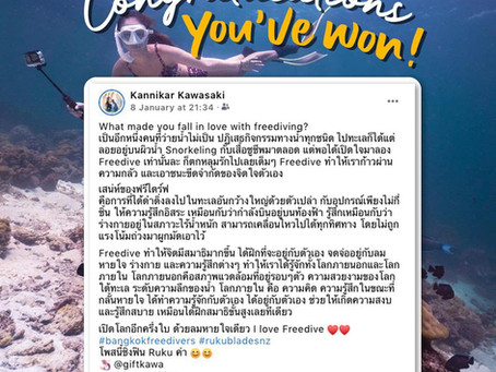 Ruku Fins x Bangkok Freedivers Winners!