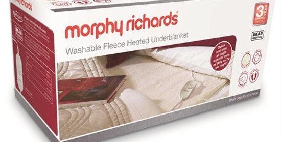 MorphyRichards Single Fleece Heated Underblanket