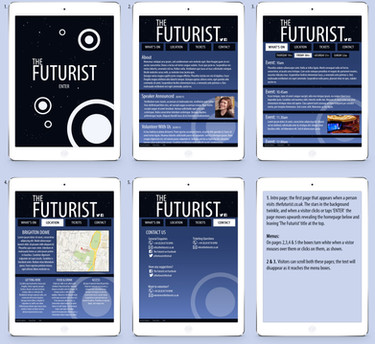 The Futurist Festival Webpages Mock-Up
