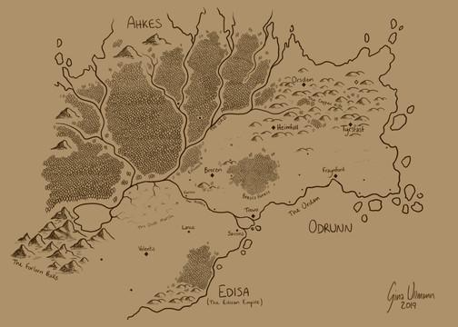 Map of a D&D World