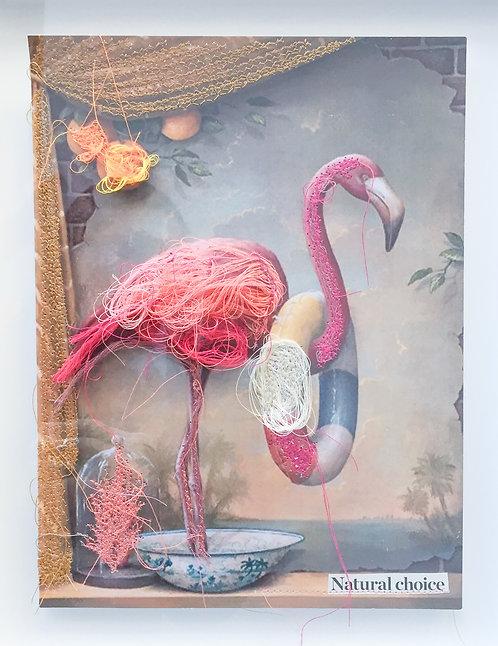 Flamingo swimmer