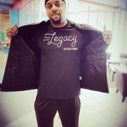 Shout out to _dj_larryjones in Charlotte,NC for rocking the brand!! We appreciate the support fam! 💯_#ThisisMyLegacy #LiveYourLegacy #FlyyLe