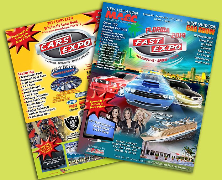 Custom FAST Cars Expo flyers by Captivating Images