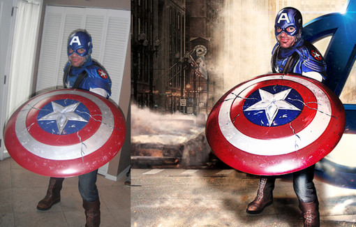 10 CAPTAIN AMERICA Throwing sheild after