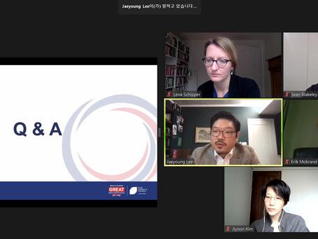 이재영 대표, 주한영국상공회의소(BCCK) 주최의 '2021 포스트 코로나 시대의 한국의 정치 전망' 패널 참석