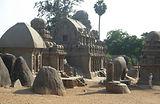 temple mamallapuram, five raithas, sculpteur sur pierre, seenu, pierre, granit, sculpture