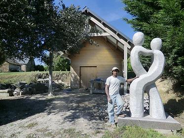 atelier, sculpture, monumental, seenu, sculpteur sur pierre, sculpture, bretagne, ploezal