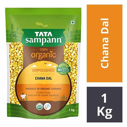 Tata Sampann 100% Organic Unpolished Chana Dal : 1 kg