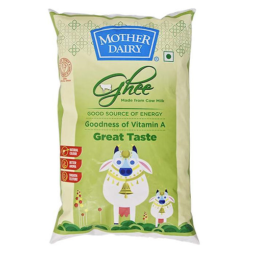 Mother Dairy Pure Cow Ghee : 1 Litre