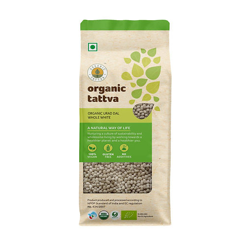 Organic Tattva Urad Dal Whole White : 500 gms