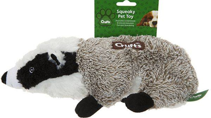 Badger dog toy
