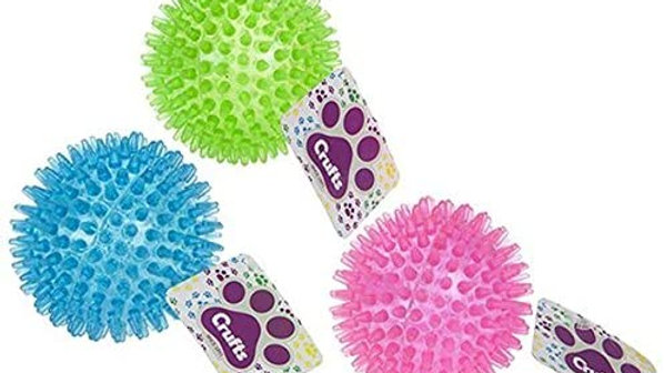 Crufts Large Spiky 9cm Dog Play Ball