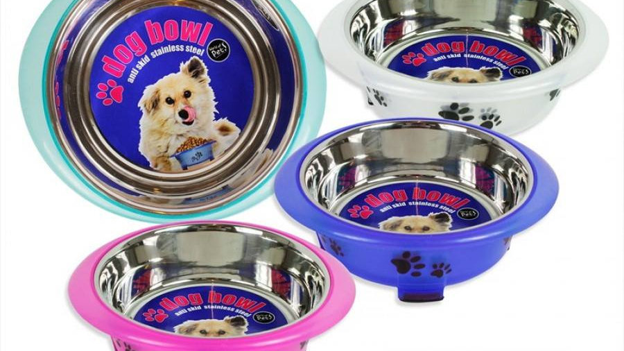 Dog bowls.