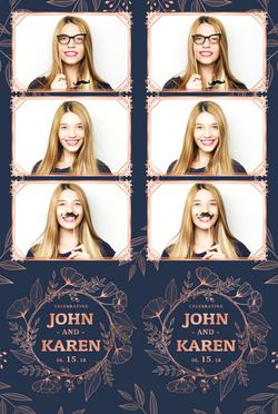 WedStrip4 - Floral Engraving - 3 Photo Strip