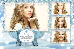 WedPos7 - Winter Royalty - 4 Photo Postcard