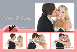 WedPos9 - Sunset Wedding - 4 Photo Postcard
