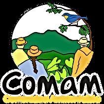 Logo-COMAM7_final_trenza_texto_amarillo.