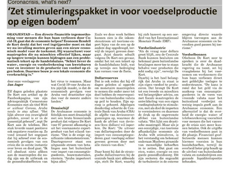 Apply stimulus package to the production of food on own soil (in Dutch)