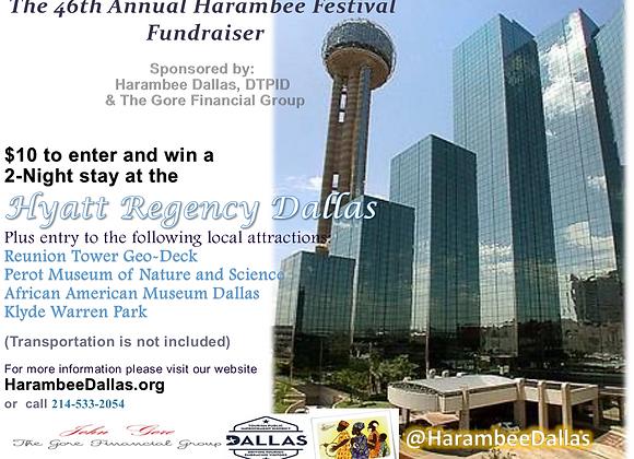 Harambee Dallas Hotel Getaway Raffle