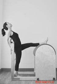 ballet stretch on barrel
