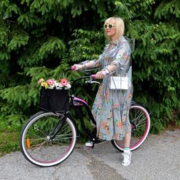 Stylish bike riding