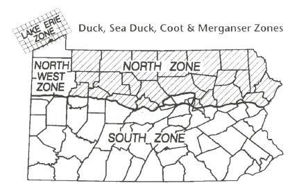 PA Duck Hunt Zones