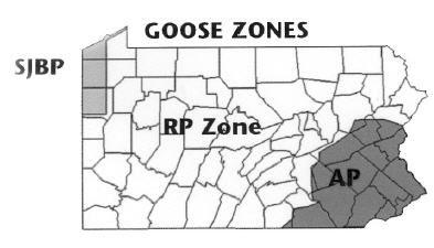PA Goose Hunt Zones