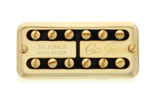 "TV Jones ""Brian Setzer"" No Ears Filter'Tron Neck Gold"
