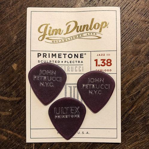 Jim Dunlop Jazz III Primetone John Petrucci Signature Oxblood Player's Pack