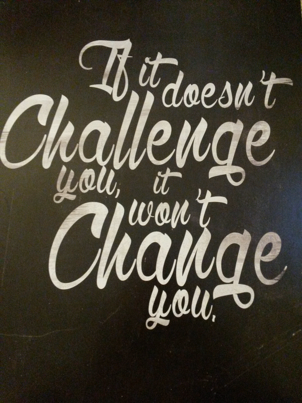 Change Within the Challenge