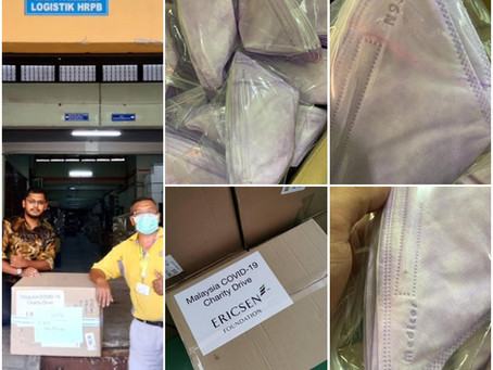 Delivery of 1600 Medicos N95 Respirators for HRPB