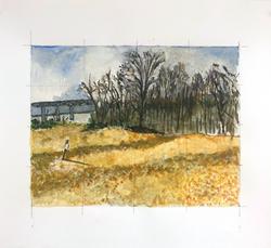 die winterreise, watercolor #4