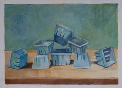 Eight Blueberry Boxes