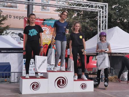 Nos slalomeurs sur les podiums