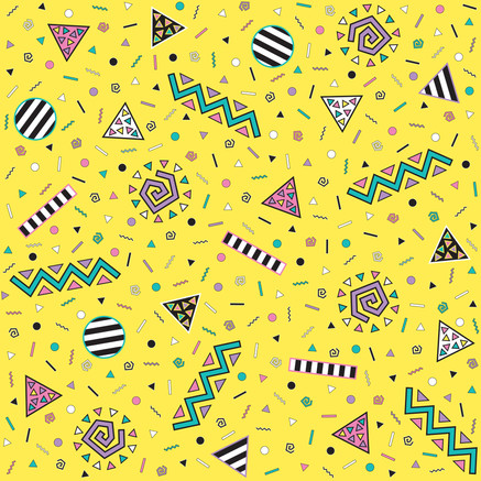 Mad Real Dreamland pattern yellow colourway 2017