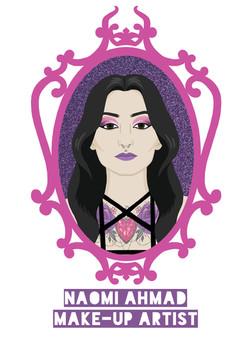 Naomi Ahmad MUA branding
