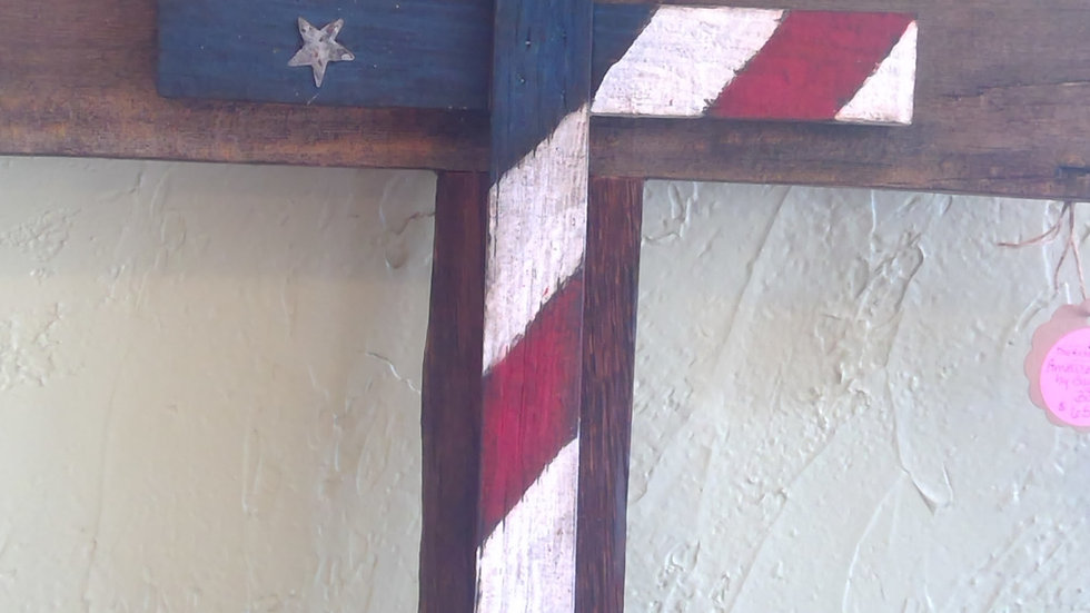 Barnwood Flag Cross