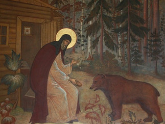 Venerable Sergiy Radonezhsky and the bears