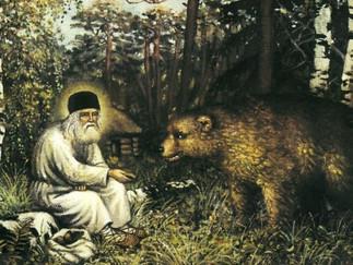 Venerable Seraphim of Sarov and the bear
