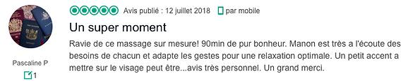 Commentaire Livre d'Or Pascaline Pierrar