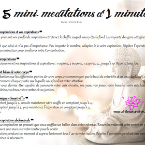 5 mini-méditations d'1 minute